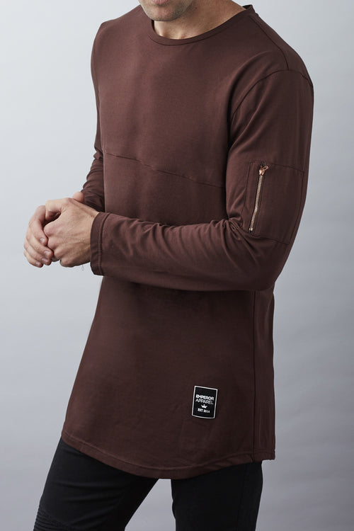 Windsor L/S T-Shirt (Burnt Brown)