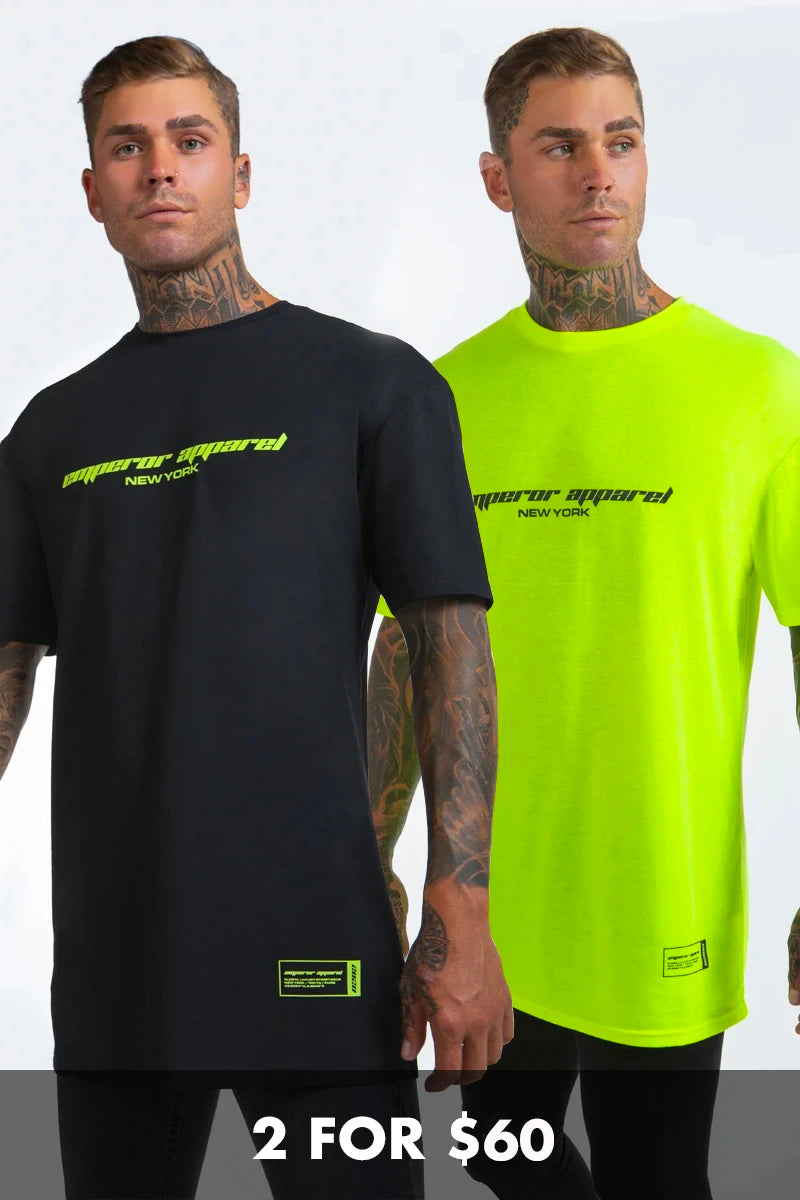 Calabasas T-Shirt Bundle (Neon and Black)