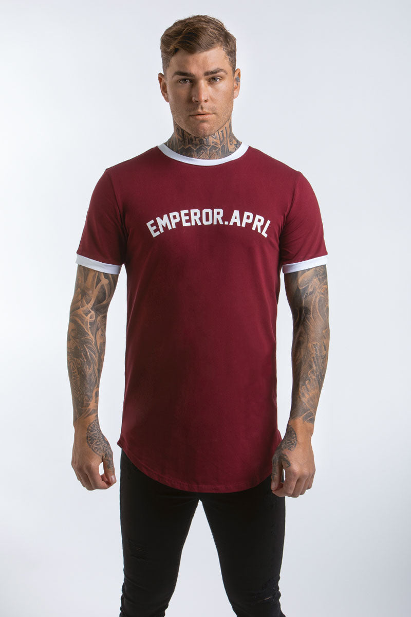 Gio Scoop T-Shirt (Maroon)