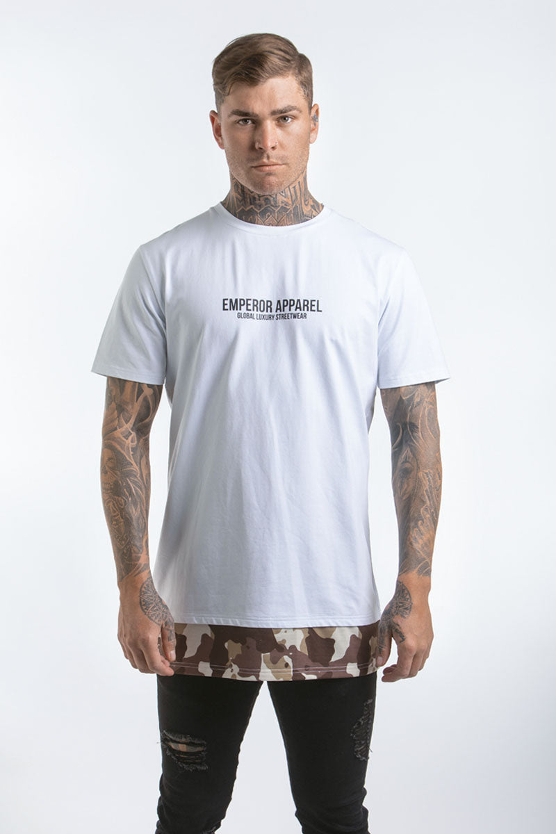 Camo Layer T-Shirt (White)