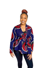 Load image into Gallery viewer, Ankara Print Blazer - Blue Baby