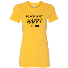 Load image into Gallery viewer, Women's Black is Happy T-Shirt
