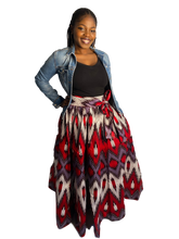 Load image into Gallery viewer, Ankara Violet Skirt (Maxi and Midi)