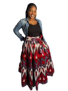 Ankara Violet Skirt (Maxi and Midi)