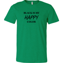 Load image into Gallery viewer, Men's Black is Happy T- Shirt