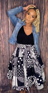 "The ""Attitude"" Patchwork Skirt"