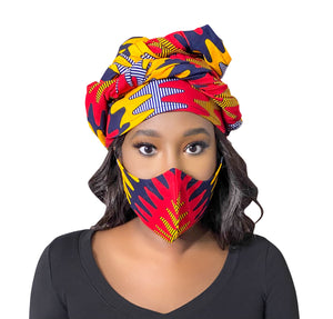 Ankara Headwrap set