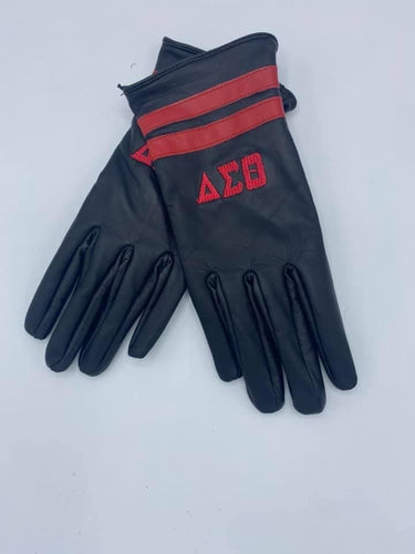 BLACK DST Leather Gloves
