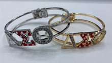Load image into Gallery viewer, RED accent Greek Letter Bracelet