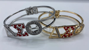 RED accent Greek Letter Bracelet