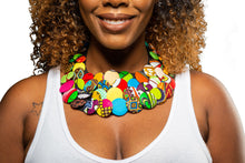 Load image into Gallery viewer, Ankara Button Necklace