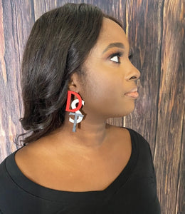 DST hand painted earring
