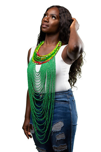 African Bold Beaded Necklace