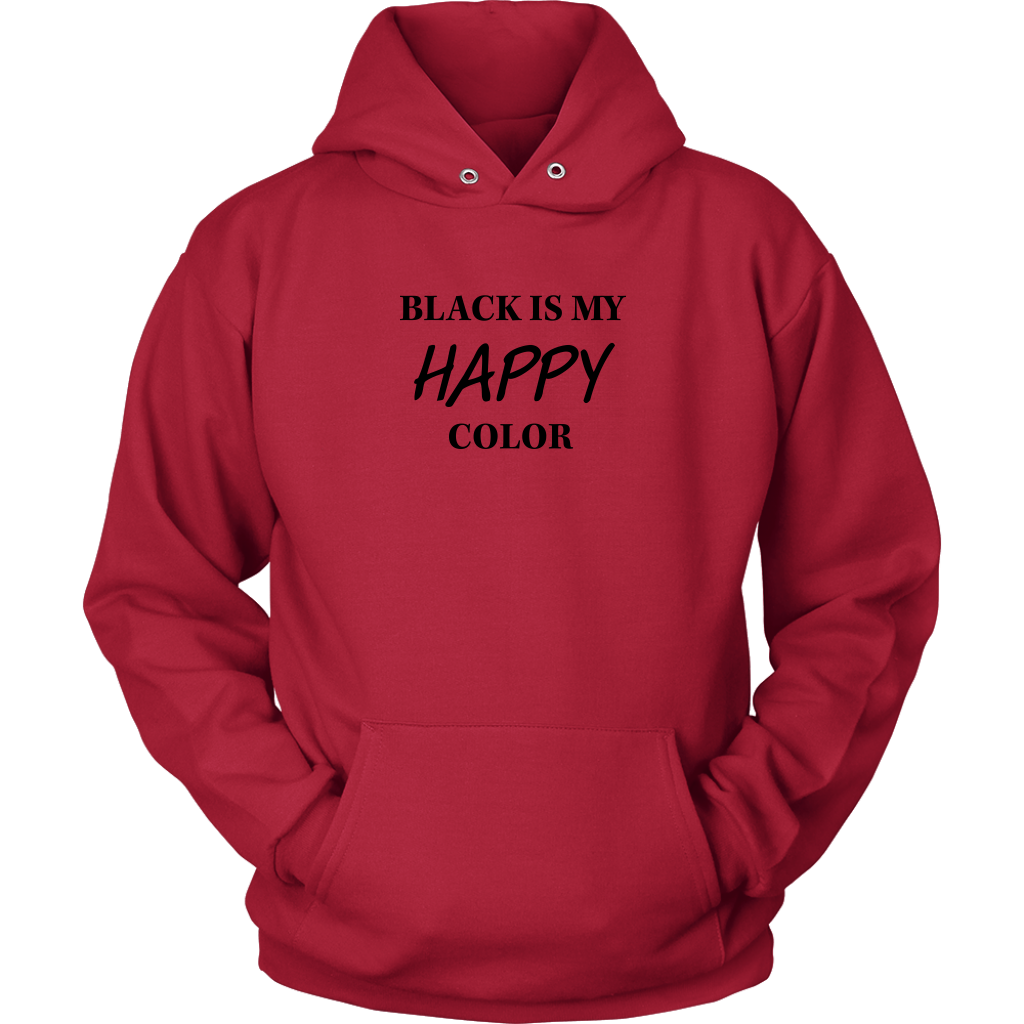 Unisex- Black is Happy Hoodie
