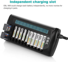 Load image into Gallery viewer, EBL 12 Bay Battery Charger LCD Universal Battery Charger - EBLOfficial