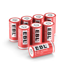 Load image into Gallery viewer, EBL CR2/15270/RCR2 Rechargeable batteries 4/8 pack - EBLOfficial
