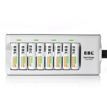 Load image into Gallery viewer, EBL AA Batteries 2300mAh ,8 Counts with Battery Charger for AA AAA Batteries - EBLOfficial