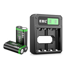 Load image into Gallery viewer, EBL Ni-MH Charger and 2800mAh Batteries - EBLOfficial