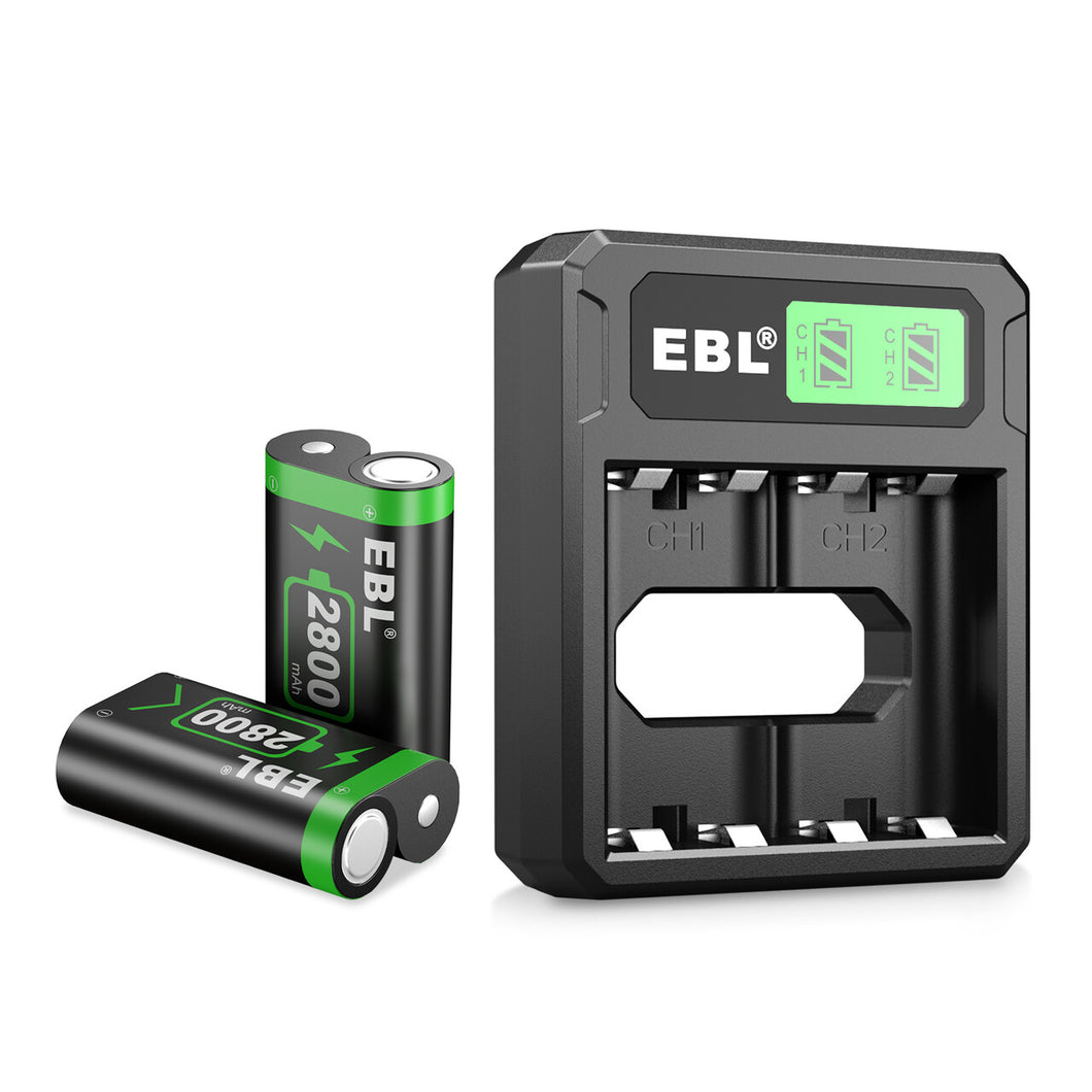 EBL Ni-MH Charger and 2800mAh Batteries - EBLOfficial