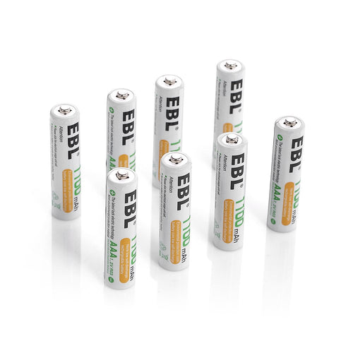 EBL AAA Rechargeable Ni-MH Batteries 1100mAh - EBLOfficial