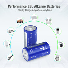 Load image into Gallery viewer, EBL Alkaline D Batteries, 4/8 Packs - EBLOfficial
