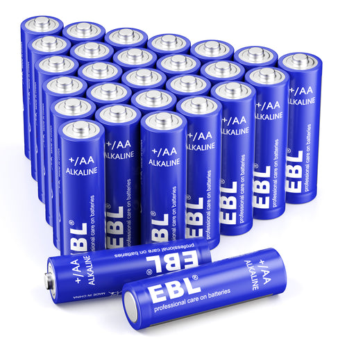 EBL 1.5v AA Alkaline Batteries 28 pack - EBLOfficial