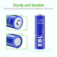 Load image into Gallery viewer, EBL 1.5v AA Alkaline Batteries 28 pack - EBLOfficial