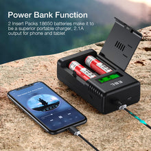 Load image into Gallery viewer, EBL-998 Battery Charger, Power Bank & Backup Flashlight 3-IN-1 - EBLOfficial