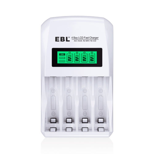 EBL LCD Smart Individual Rechargeable Battery Charger - EBLOfficial