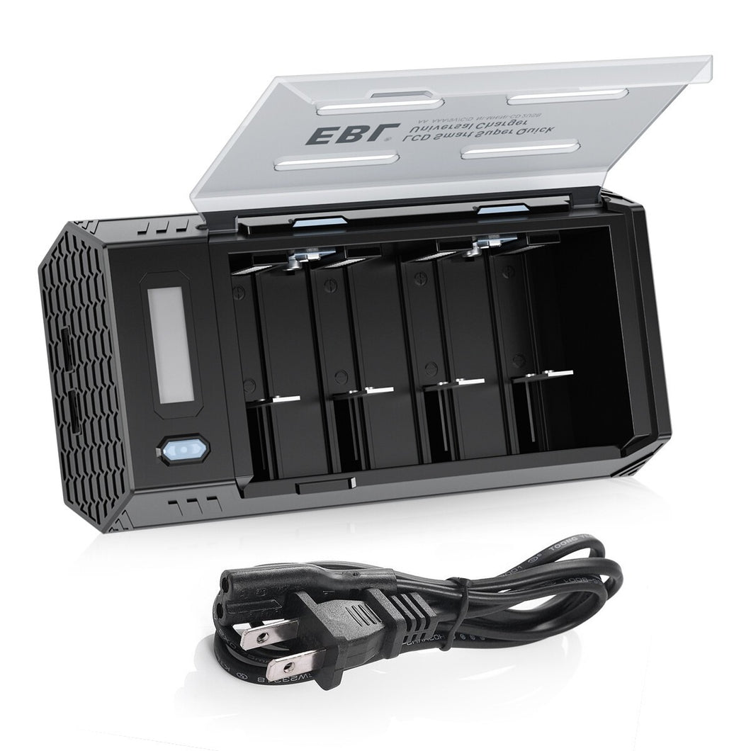 EBL LCD Smart Quick Charger with 2 USB - EBLOfficial