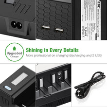 Load image into Gallery viewer, EBL LCD Smart Quick Charger with 2 USB - EBLOfficial