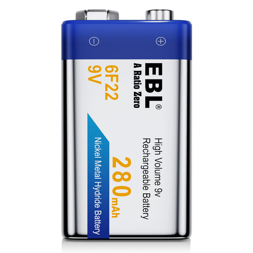 EBL 6F22 9V 280mah Rechargeable Battery - EBLOfficial