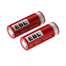 Load image into Gallery viewer, EBL 18500 Rechargeable Batteries 3.7V 1600mAh - EBLOfficial