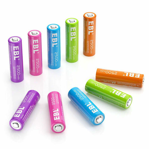 Colorful AA Batteries