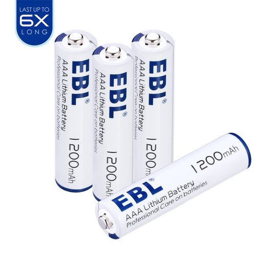 EBL 4/8/16 PCS 1200mAh 1.5V AAA Non-Rechargeable Lithium Batteries - EBLOfficial