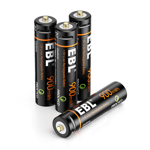 EBL USB Rechargeable Lithium AAA Batteries - 1.5V - EBLOfficial