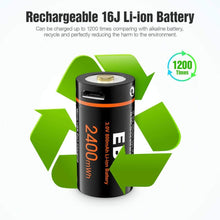 Load image into Gallery viewer, EBL 3V CR123 16340 Li-ion USB Rechargeable Batteries+Charger