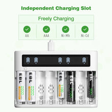 Load image into Gallery viewer, EBL AA Battery Charger LCD Smart Charger - EBLOfficial