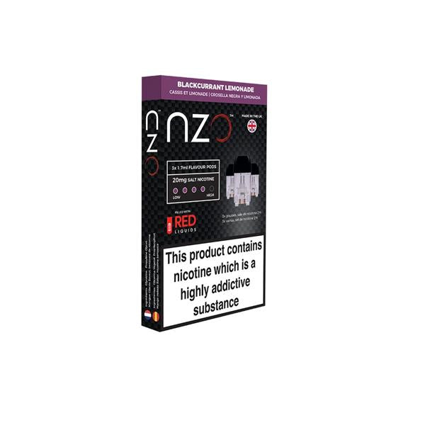 NZO 10mg Salt Cartridges with Red Liquids Nic Salt (50VG/50PG) - Unholy Vape