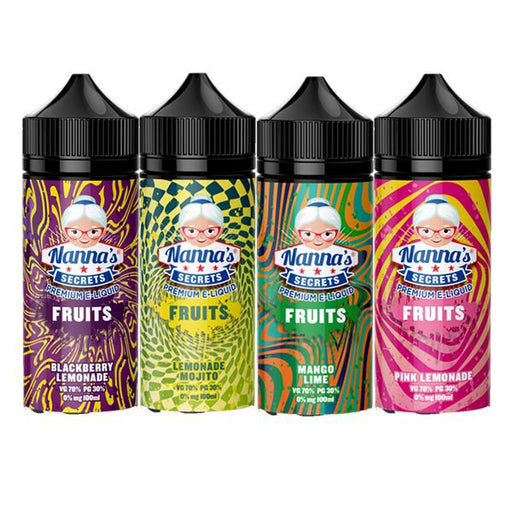 Nanna's Secret Fruits 0MG 100ml Shortfill (70VG/30PG) - Unholy Vape