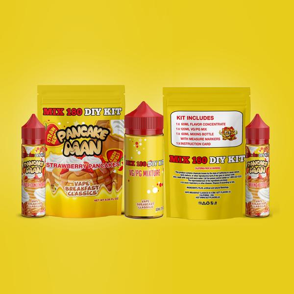 Pancake Man Strawberry Pancakes DIY Mix Kit 180ml - Unholy Vape