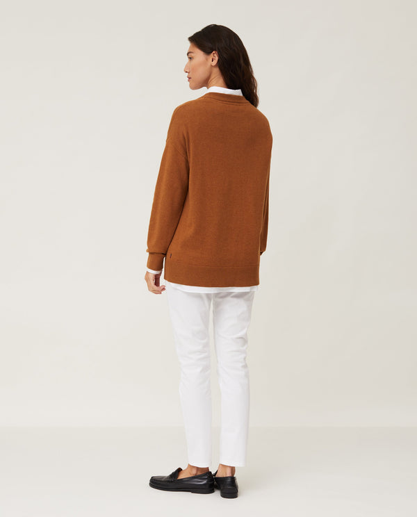 Lexington Lizzie Cotton/Cashmere Sweater Brown