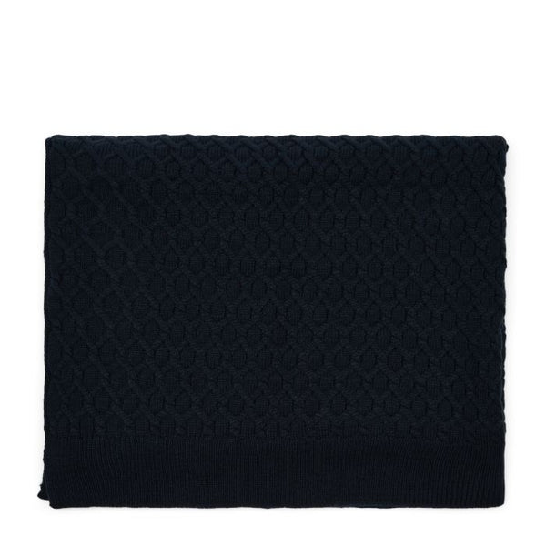 Riviera Maison Knitted Cable Throw 180*130 blue