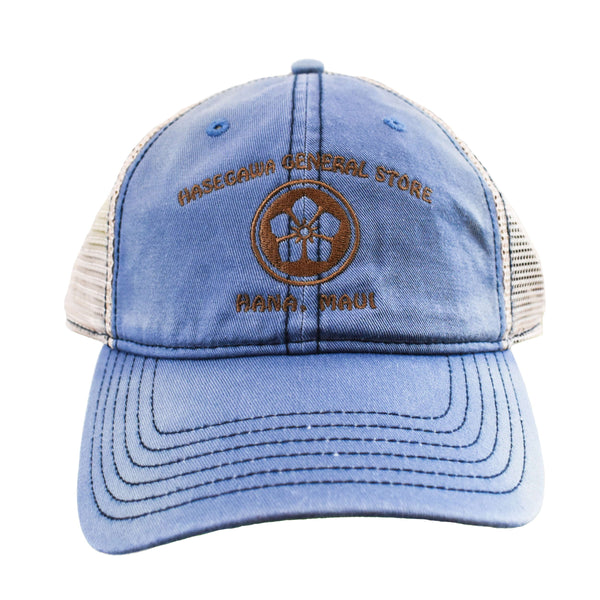Mon (Family Crest) design embroidered on Unstructured Cotton Baseball Cap