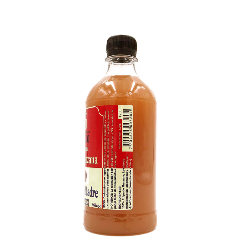 Vinagre De Manzana Con La Madre Gallo x 500 ml