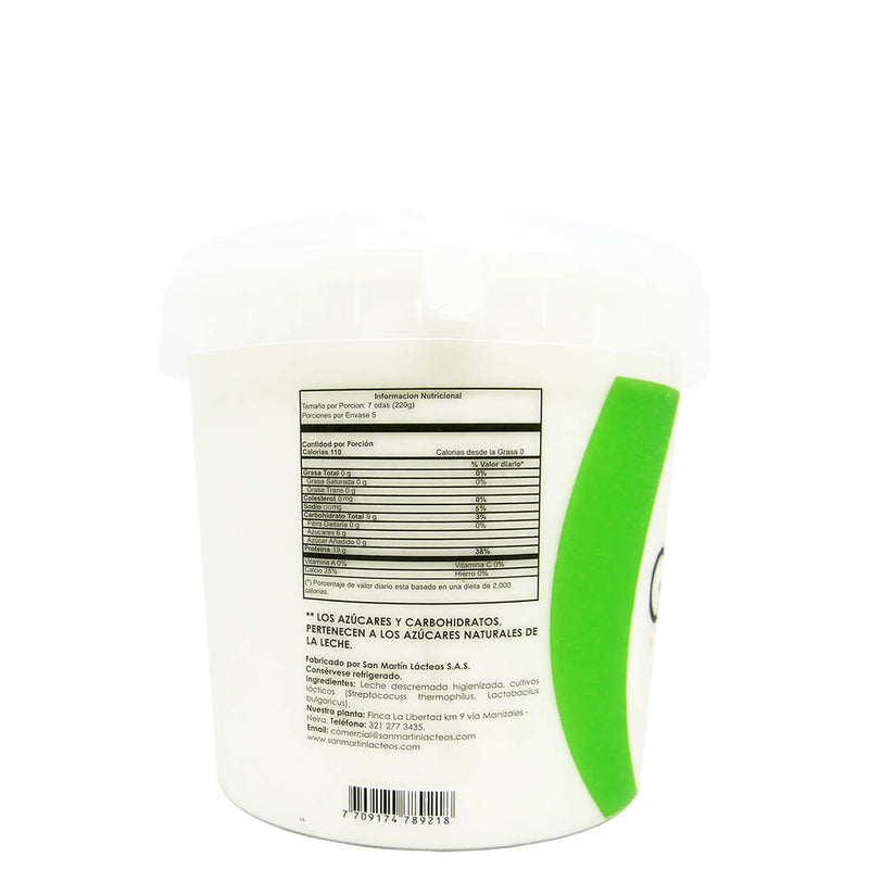 Yogurt Griego Natural Sin Endulzante x 1100 gr