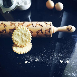 Pastrymade BEAGLE ROLLING PIN Pastry Tool and Baking Utensil for Homemade Cookies