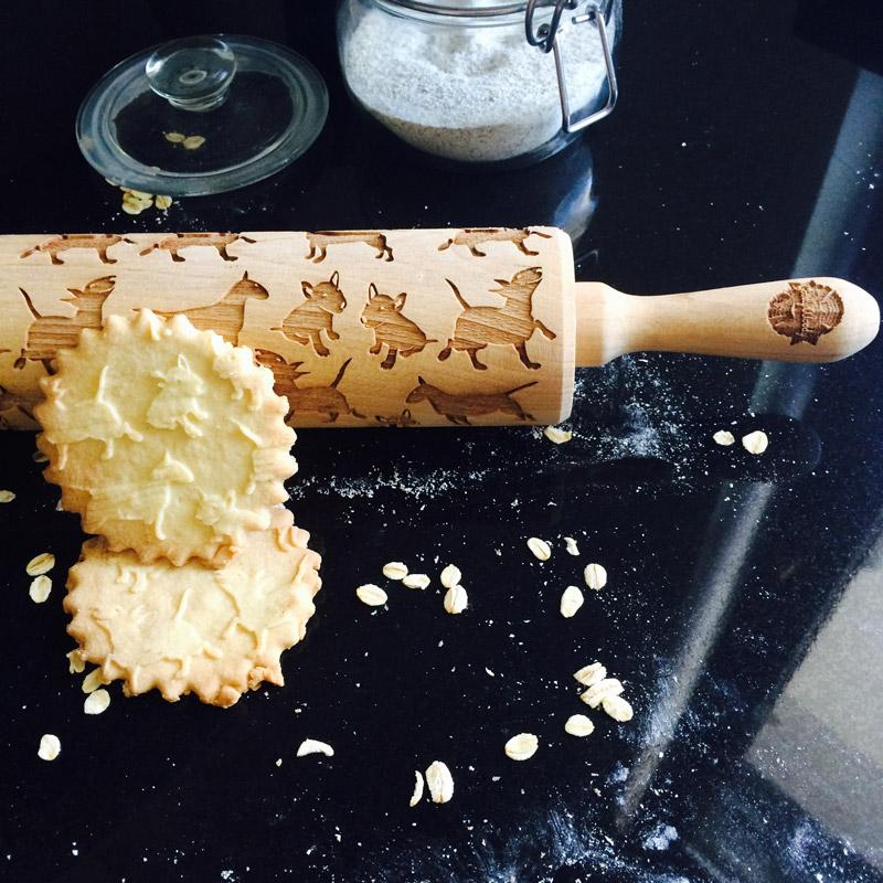 Pastrymade BULL TERRIER ROLLING PIN Pastry Tool and Baking Utensil for Homemade Cookies