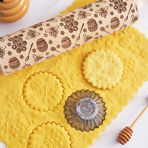 Pastrymade BEE ROLLING PIN Pastry Tool and Baking Utensil for Homemade Cookies