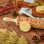 Pastrymade CHRISTMAS 3D ROLLING PIN Pastry Tool and Baking Utensil for Homemade Cookies